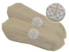 100% Cotton Embroidered Neck Bolster Case - Irish Celtic Knot