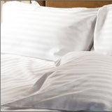 REDUCED TO CLEAR 100% Cotton Sateen Stripe 230 thread count