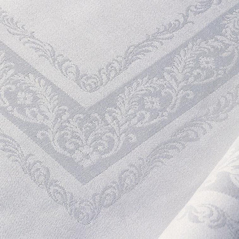 Pure Irish Linen Double Damask Tablecloth - Fine Scroll