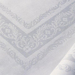 Pure Irish Linen Double Damask Tablecloth - Fine Scroll REDUCED TO CLEAR