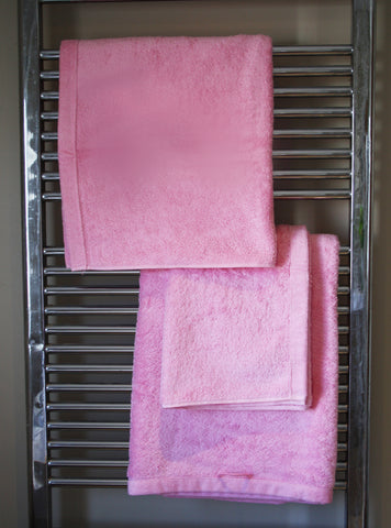 Rose Pink Cotton Terry Towels