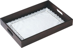 Classic Pure Linen Lace Tray Cloth