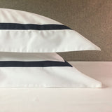Savile Edge Cotton Pillowcase - Navy