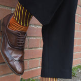 Oxford Stripe Luxury Gentleman's Cotton Socks