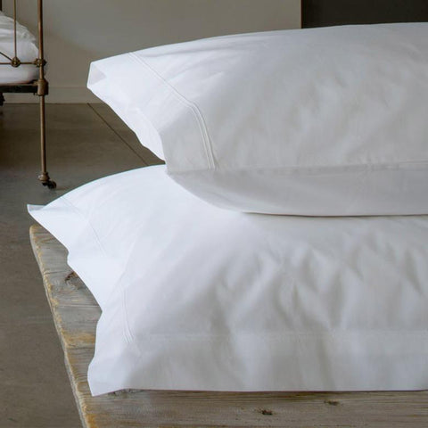 Egyptian Cotton Oxford Pillowcase with 2 Row Cording 210tc by Peter Reed