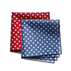Swiss Lawn Fine Cotton Spotted Ladies Handkerchiefs - Box of 2