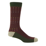 Square Polka Luxury Gentleman's Socks - Autumn