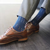 Square Polka Luxury Gentleman's Socks