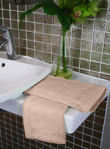 Taupe Cotton Terry Towels