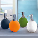 Energy - Rubberised Porcelain Round Soap Dispensers