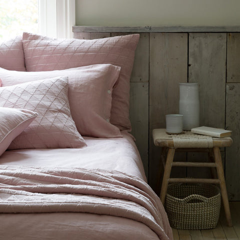 Stockholm Blush Pink Cotton Bedspread