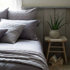 Lisbon Pewter Grey Linen Duvet Cover