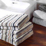 Natural Stripe Combed Cotton Towels