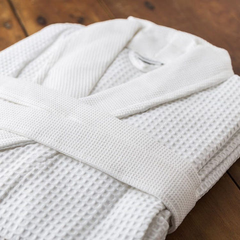 Gentlemen's 100% Cotton Waffle Bathrobe