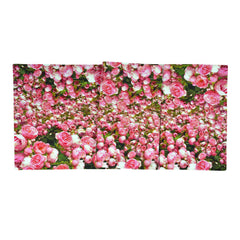 Pink Rose Blossom - Pure Cotton Printed Table Runner
