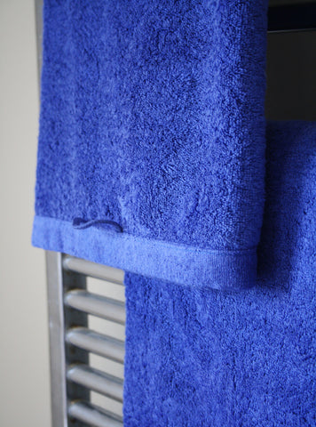 Sapphire Blue Cotton Terry Towels