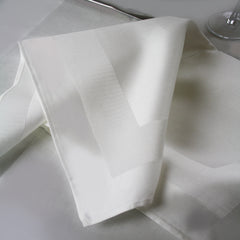 Pure Irish Linen Double Damask Napkin with Satin Band