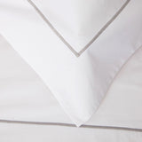 Savile Cord Cotton Duvet Cover - Silver
