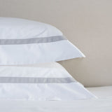 Savile Edge Cotton Pillowcase - Silver