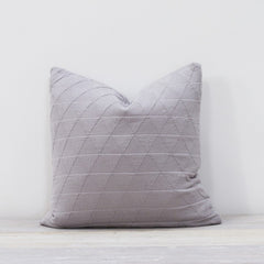 Stockholm Pewter Grey Cotton Throw Cushion
