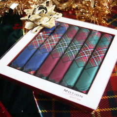 Tartan Cotton Handkerchiefs - Box of 6