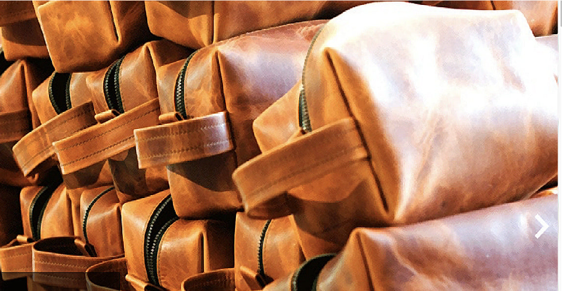 BLAQ'D the Brand Leather Dopp Kits