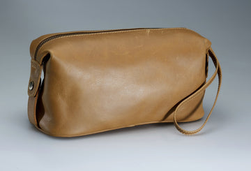 Vintage Leather Dopp Kit
