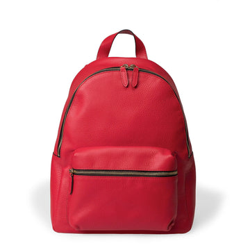 The Carmine Leather Backpack