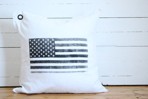 american flag. pillow