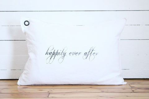 happily ever after. pillow