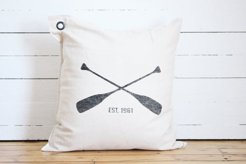row team pillow
