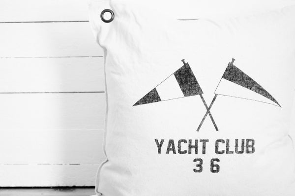 yacht club pillow