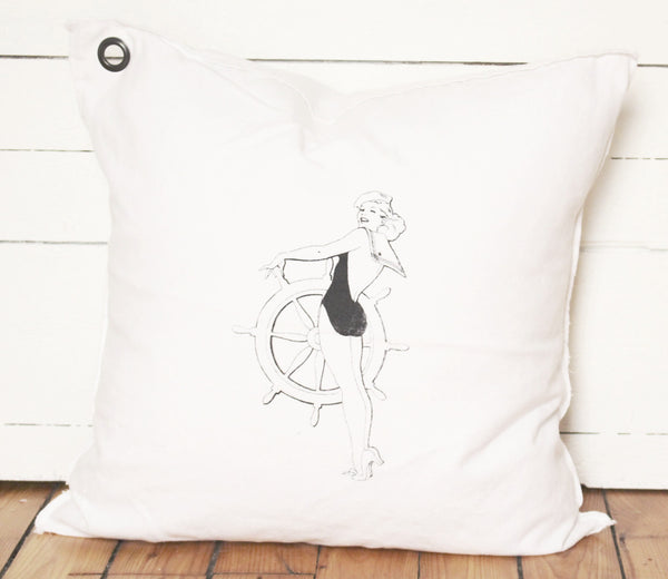pin up sailor. pillow