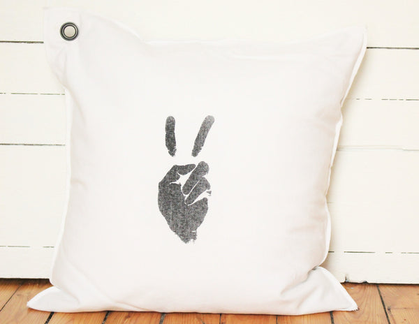 peace man. pillow