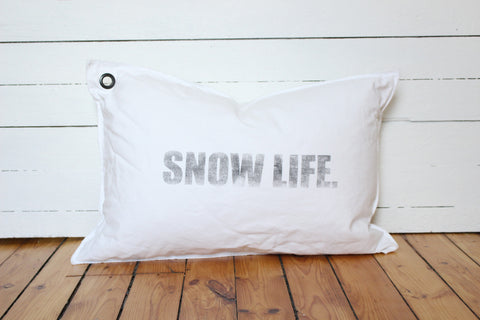 snow life pillow