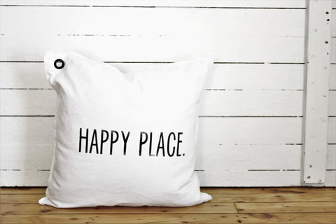 happy place. pillow