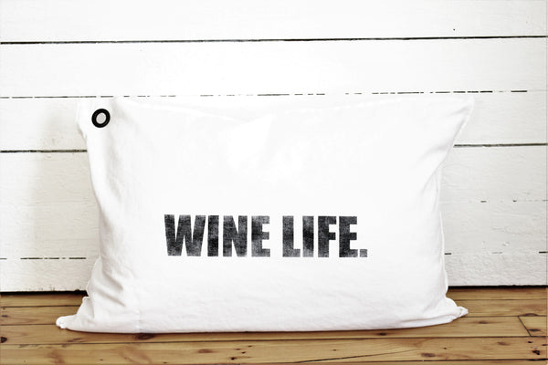 wine life pillow