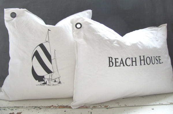 beach house. pillow