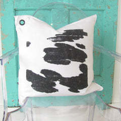 cowhide pillow.
