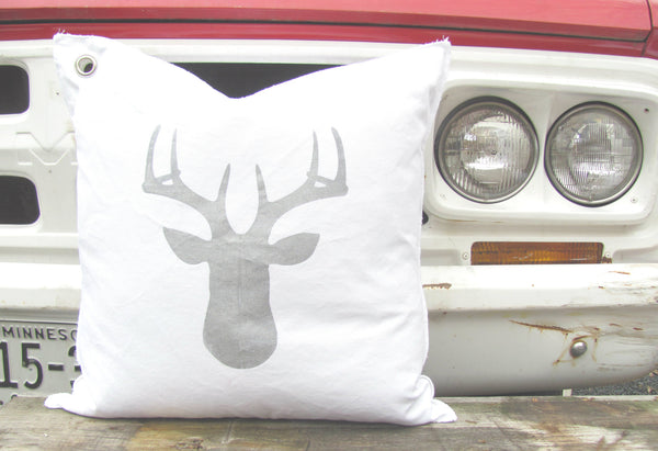 deer silhouette pillow