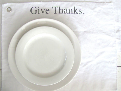 give thanks. place mat