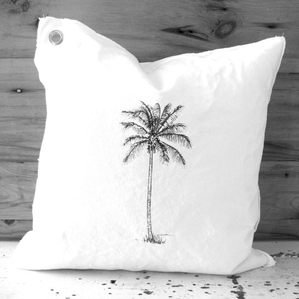 leafy palm pillow