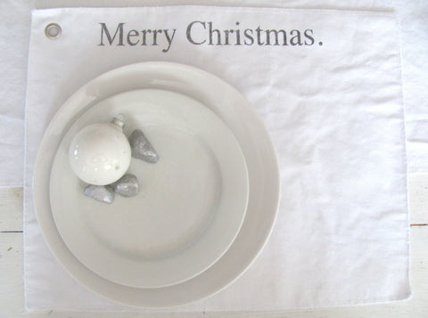 merry christmas. place mat