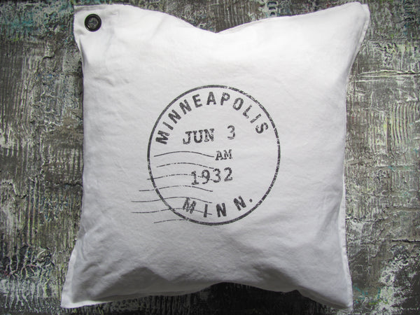 custom postmark. pillow [set/6]