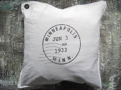 custom postmark pillow
