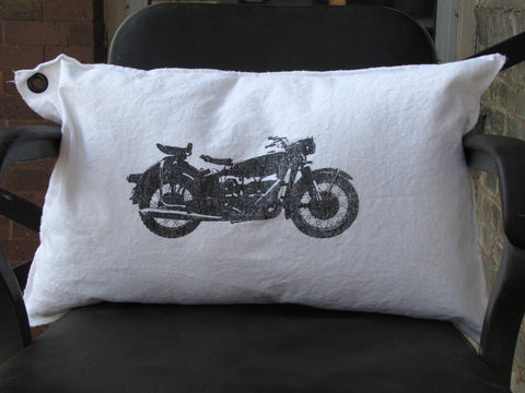 motorcycle. pillow