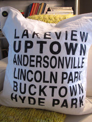 chicago lakeview area. pillow