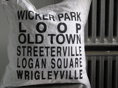chicago wicker park area pillow