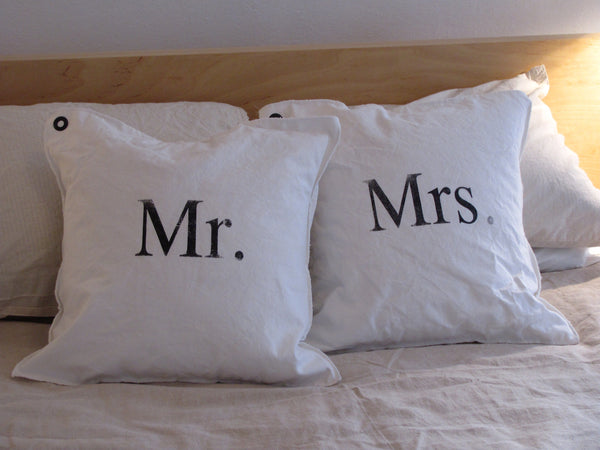 mr. + mrs. pillow