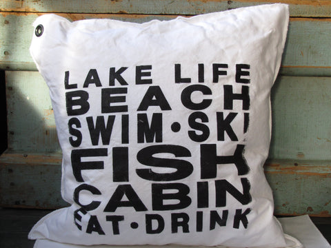 lake 6-line pillow